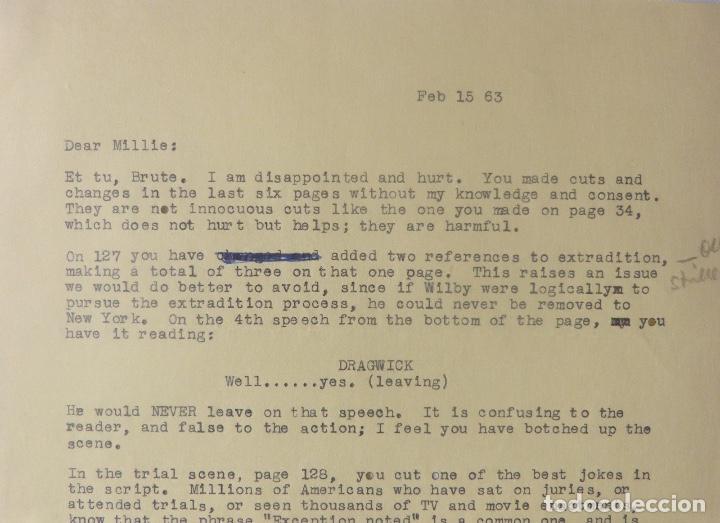 Cartas comerciales: Marc Brandel signed letter/22nd October,1968 - Foto 2 - 107748155
