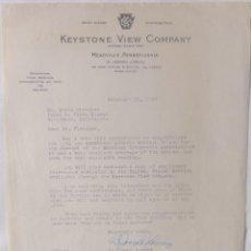 Cartas comerciales: B.JOSEPH LORENZ SIGNED LETTER/1949/KEYSTONE VIEW COMPANY. Lote 107751223