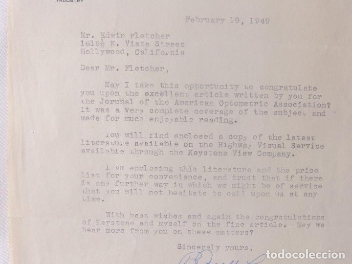 Cartas comerciales: B.Joseph Lorenz signed letter/1949/Keystone View Company - Foto 3 - 107751223