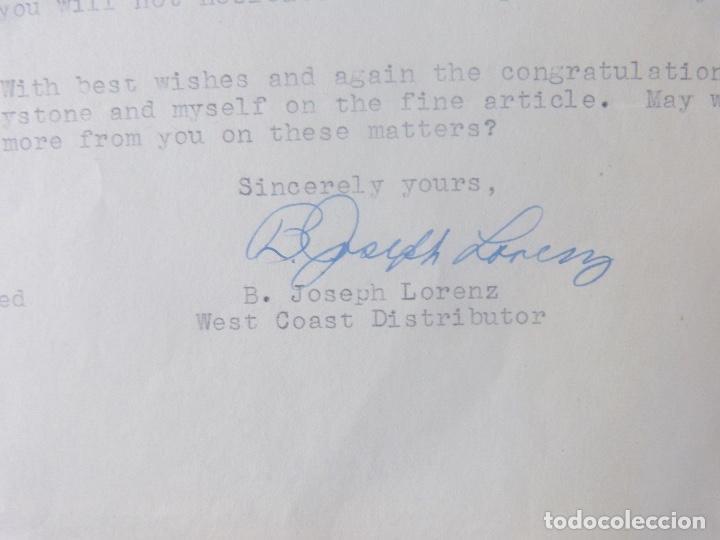 Cartas comerciales: B.Joseph Lorenz signed letter/1949/Keystone View Company - Foto 5 - 107751223