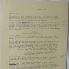 Cartas comerciales: NORMAN CORWIN SIGNED LETTER/1963/WRITER TO MILLIE. Lote 107751983