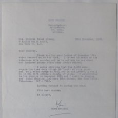 Cartas comerciales: MARC BRANDEL LETTER SIGNED/1968 /RARE. Lote 107847483