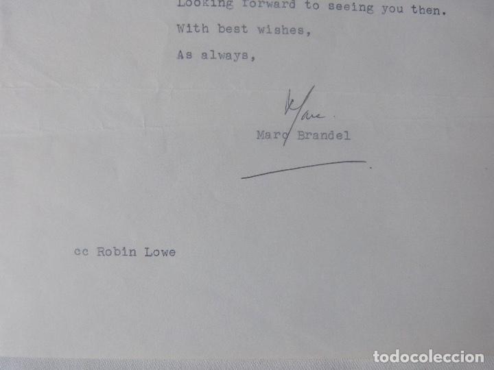 Cartas comerciales: Marc Brandel letter signed/1968 /RARE - Foto 2 - 107847483