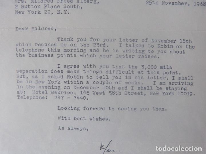 Cartas comerciales: Marc Brandel letter signed/1968 /RARE - Foto 4 - 107847483