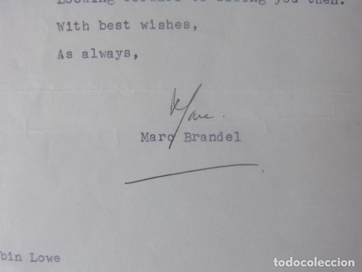 Cartas comerciales: Marc Brandel letter signed/1968 /RARE - Foto 5 - 107847483