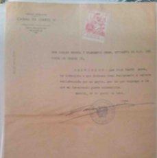 Cartas comerciales: CANAL DE ISABEL II. MADRID. 1942.. Lote 107934451