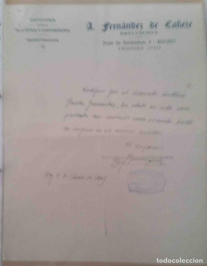 A. FERNÁNDEZ DE CAÑETE. PLATERÍA. ORFEBRERÍA. MADRID. 1948 (Coleccionismo - Documentos - Cartas Comerciales)