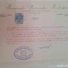 Cartas comerciales: TALLER MECÁNICO . RAIMUNDO HERNÁNDEZ. HUESCAR. GRANADA. 1961. Lote 107934507