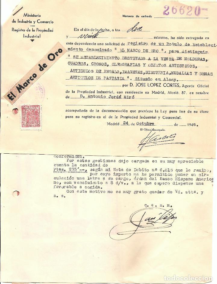 alcoy - varios documentos registro rótulo tiend - Comprar Cartas ...