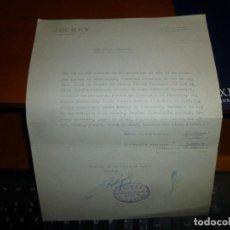 Cartas comerciales: CARTA DE COBRO POR COMIDA SERVIDA EN DOMICILIO DEL RESTAURANT - BAR JOCKEY EN MADRID, 1972. Lote 108709295