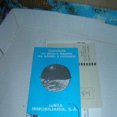 Cartas comerciales: RENTA INMOBILIARÍA, S. A.. FOLLETO MÁS SOBRE PARA RESPUESTA COMERCIAL. AÑO 1971.. Lote 108832051