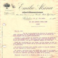 Cartas comerciales: BADALONA - EMILIO ALSINA - DICIEMBRE 1942. Lote 109140547