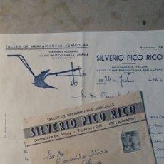 Cartas comerciales: CORREOS IBI BENIFALLIM. SILVERIO PICÓ RICO.. Lote 109196226