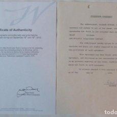 Cartas comerciales: RICHARD BURTON SIGNED CONTRACT/1979/ 8 ½ X 11. Lote 109449623
