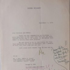 Cartas comerciales: DORE SCHARY SIGNED LETTER WITH ALS, SEPTEMBER 3, 1974. Lote 110136407