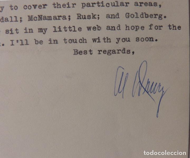 Cartas comerciales: Allen Drury signed letter,April 8, 1962 - Foto 2 - 110147219