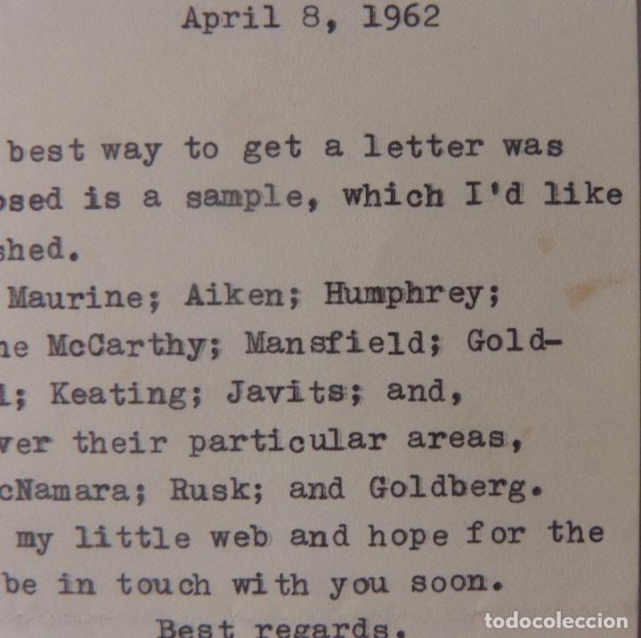 Cartas comerciales: Allen Drury signed letter,April 8, 1962 - Foto 3 - 110147219