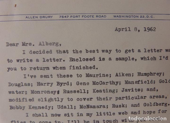 Cartas comerciales: Allen Drury signed letter,April 8, 1962 - Foto 4 - 110147219