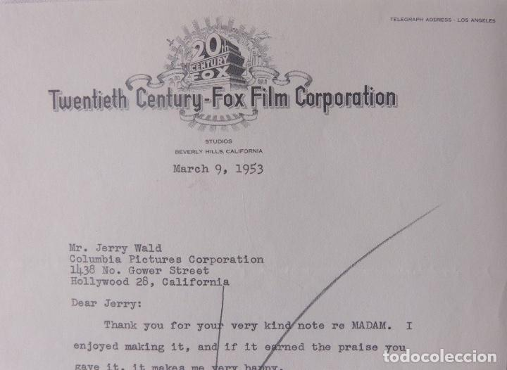 Cartas comerciales: Sol C.Siegel signed letter,Twentieth Century-Fox, March 9, 1953 - Foto 3 - 110150803