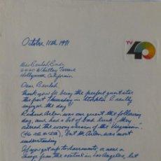 Cartas comerciales: BILL KLINE SIGNED ALS,OCTOBER 11, 1971,KTXL CHANNEL 40.. Lote 110745575