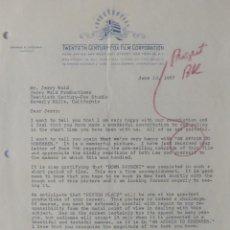 Cartas comerciales: SPYROS P. SKOURAS SIGNED LETTER,TWENTIETH CENTURY-FOX, JUNE 13, 1957.. Lote 110753575