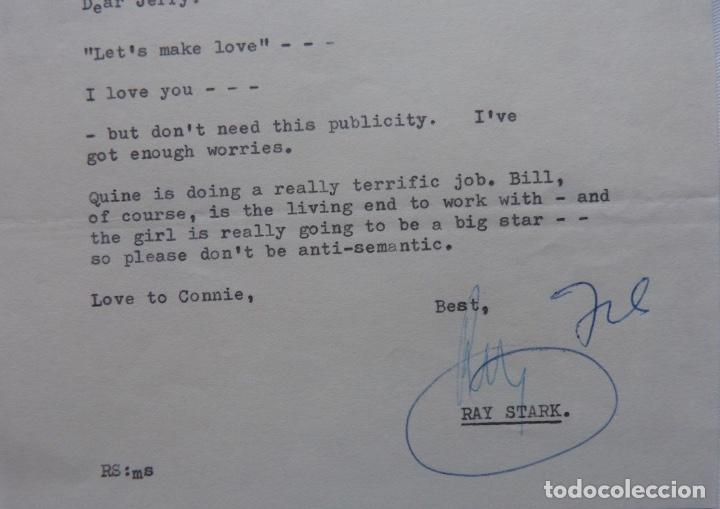 Cartas comerciales: Ray Stark signed letter,1960, Paramount British pictures. - Foto 4 - 110754755