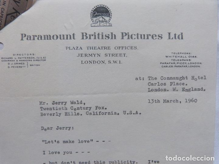 Cartas comerciales: Ray Stark signed letter,1960, Paramount British pictures. - Foto 5 - 110754755