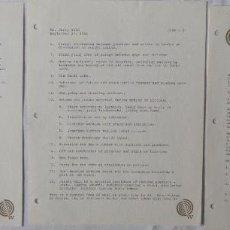 Cartas comerciales: DAVID L. WOLPER SIGNED LETTER, ORIGINAL, SEPTEMBER 27, 1961, 3 PAGES.. Lote 110756375
