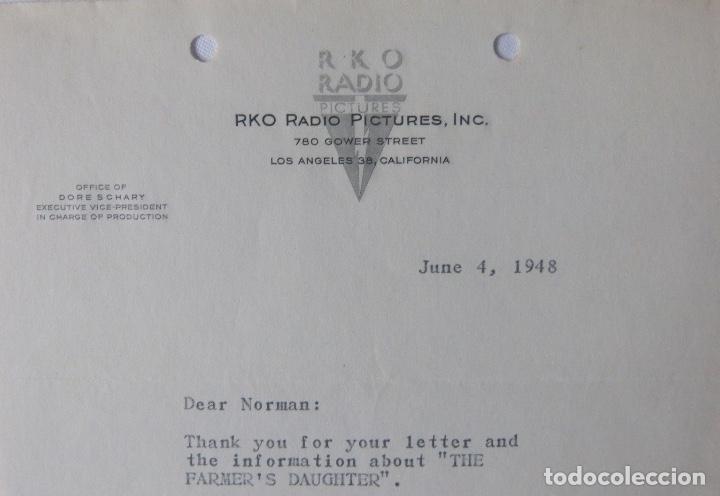 Cartas comerciales: Dore Schary signed letter, June 4, 1948 - Foto 3 - 110757775