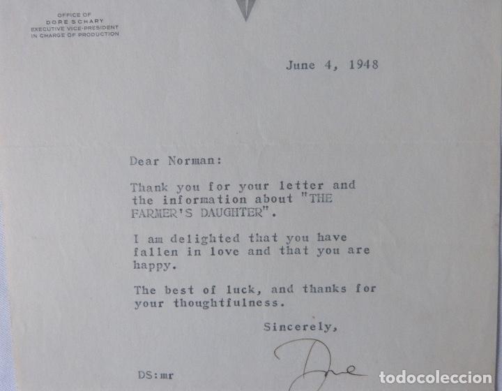 Cartas comerciales: Dore Schary signed letter, June 4, 1948 - Foto 4 - 110757775