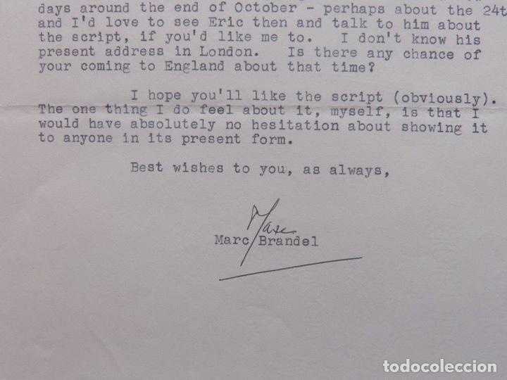 Cartas comerciales: Marc Brandel signed letter, October 5 th, 1968 - Foto 3 - 110836271