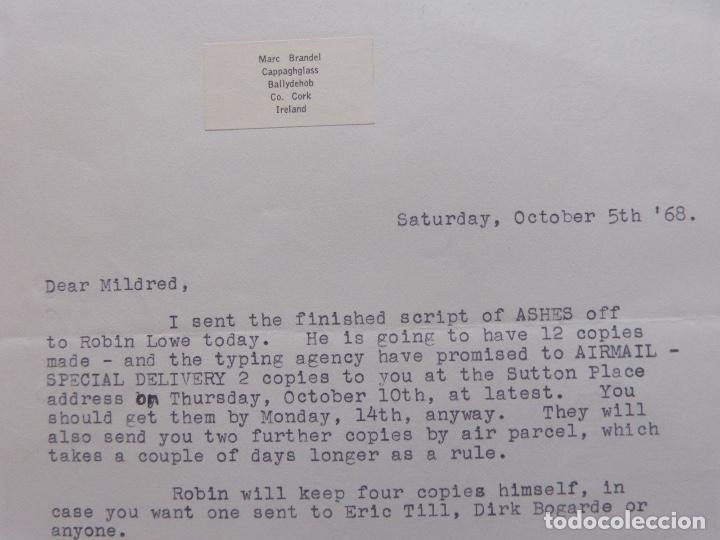 Cartas comerciales: Marc Brandel signed letter, October 5 th, 1968 - Foto 4 - 110836271