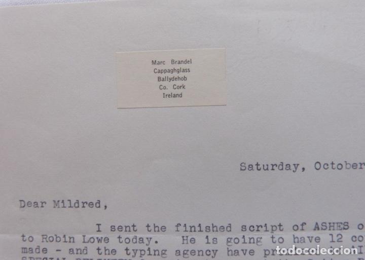 Cartas comerciales: Marc Brandel signed letter, October 5 th, 1968 - Foto 5 - 110836271