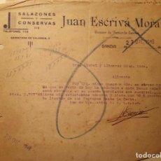 Cartas comerciales: GANDIA FACTURA RECIBO JUAN ESCRIVA MORANT AÑO 1948. Lote 111060015
