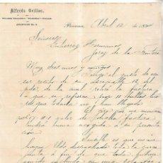 Cartas comerciales: CARTA COMERCIAL. ALFREDO ORILLAC. PANAMA. 1894. Lote 111105471