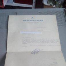Cartas comerciales: AÑO 1969 - CARTA COMERCIAL MERCEDES-BENZ (SOBRE Y COMUNICACIÓN LETRA IMPAGADA). Lote 111347887