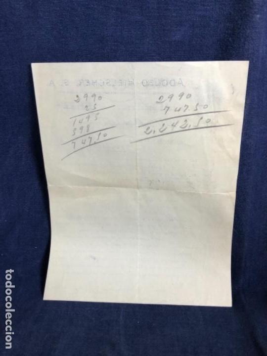 Cartas comerciales: carta comercial Adolfo hielscher s.a. 1952 venta radio Philips 492 A 514 A Palencia - Foto 2 - 114450227