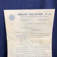 Cartas comerciales: CARTA COMERCIAL ADOLFO HIELSCHER S.A. 1952 VENTA RADIO PHILIPS 492 A 514 A PALENCIA. Lote 114450227