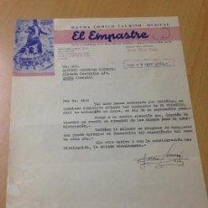 Cartas comerciales: ANTIGUA CARTA COMERCIAL ESPECTACULO COMICO TAURINO MUSICAL EL EMPASTRE CATARROJA VALENCIA. Lote 114912751