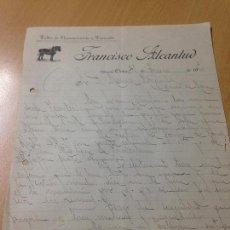 Cartas comerciales: ANTIGUA CARTA COMERCIAL GUARNICIONERIA Y TAPICERIA ALCANTUD ONTUR ALBACETE 1920. Lote 115450819