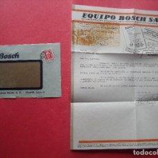 Cartas comerciales: BOSCH.-EQIPO BOSCH S.A.-CARTA COMERCIAL.-MADRID.-AÑO 1934.. Lote 116666907