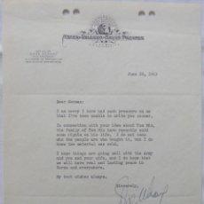 Cartas comerciales: CARTA FIRMADA POR DORE SCHARY, 26 DE JUNIO DE 1953,METRO-GOLDWYN-MAYER.. Lote 117247935