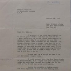 Cartas comerciales: CHARLES CRICHTON SIGNED LETTER,OCTOBER 18, 1962. Lote 117249195