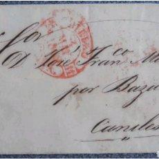 Cartas comerciales: CARTA PREFILATELIA DE BILBAO A CANILES GRANADA 1849. Lote 119053178