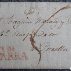 Cartas comerciales: CARTA PREFILATELIA DE TUDELA A CORELLA NAVARRA 1819. Lote 119143428