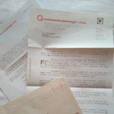 Cartas comerciales: CIRCULAR + SOBRE PRODUCTOS QUIMICOS QUIMICAMP, ZARAGOZA 1970. Lote 119341954