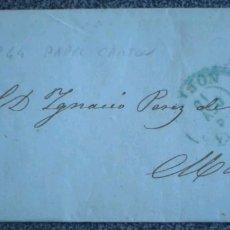 Cartas comerciales: CARTA EDIFIL 44 PAPEL CARTON DE GIJÓN A MADRID 1856. Lote 119496684