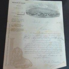 Cartas comerciales: CARTA COMERCIAL GRANDS MAGASINS DU LOUVRE PARÍS AÑO 1900. Lote 119515275