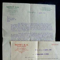 Lettere commerciali: CAVAS NOYET / CHAMPAGNES / CARTA COMERCIAL - AGOSTO 1936 / BARCELONA. Lote 119955759