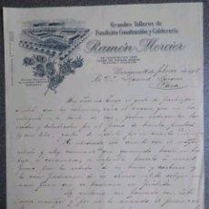 Cartas comerciales: CARTA COMERCIAL FABRICA DE FUNDICION RAMON MERCIER 1913. Lote 120341011